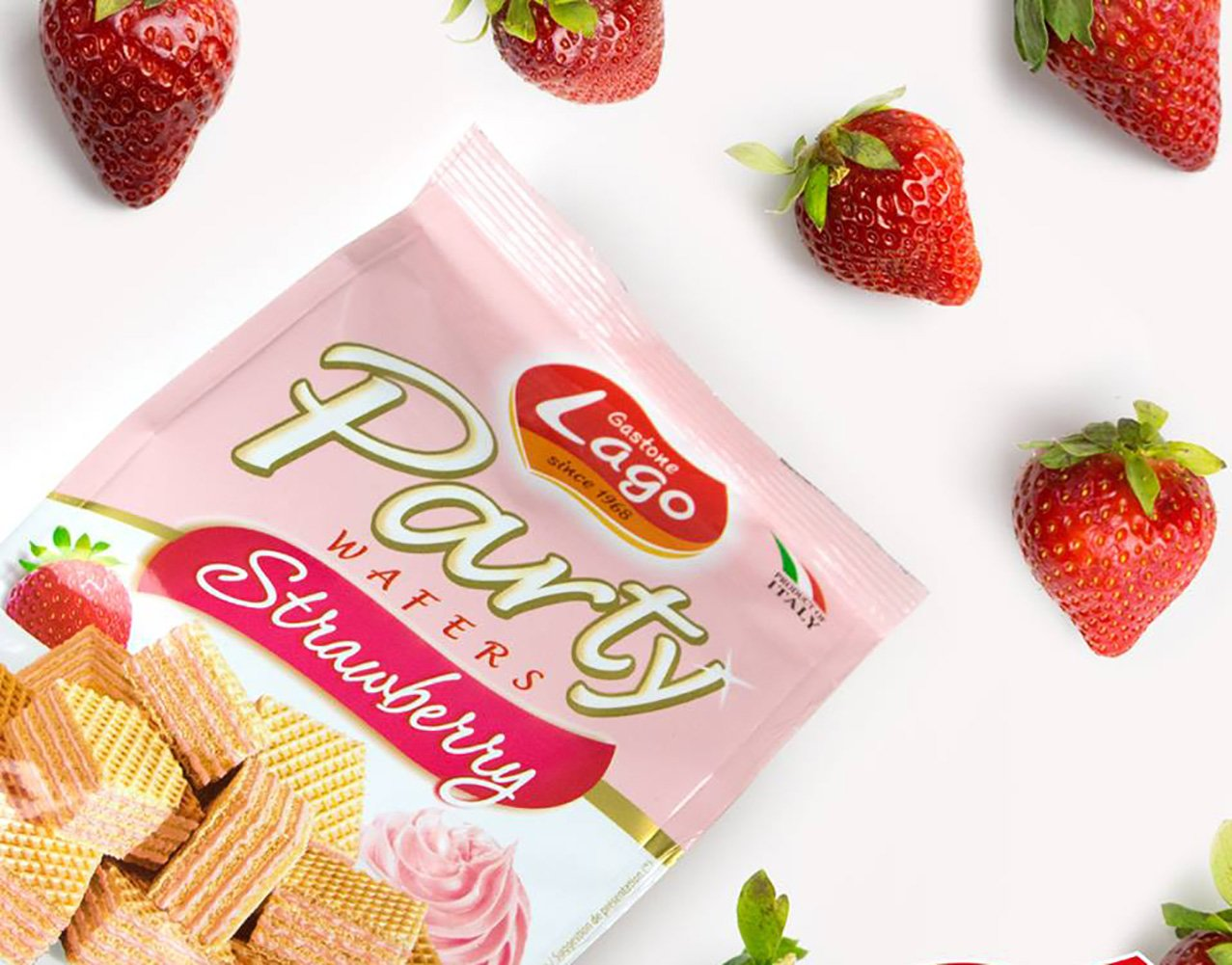 Amazon.com: Gastone Lago Party Variety Wafers Cream Filling 8.82 oz, 250g (Pack of 2) (Vanilla/Strawberry, 2-Pack)