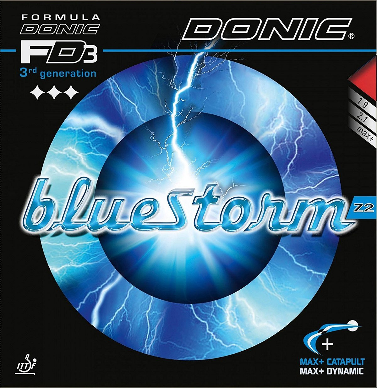 Donic Bluestorm z2、2.1 MMレッド、Table Tennisラバー B075LZ3TL4