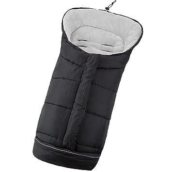 TecTake Saco de invierno dormir térmico para carrito silla de bebé universal abrigo polar - disponible en diferentes colores - (Negro | No.