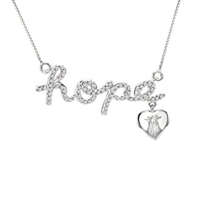 necklace wing silver christianity sterling front fappac believe faith hope cross