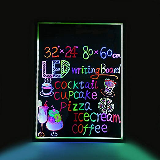 Amazon.com: Flashing Illuminated Erasable Led Neon Sign ...