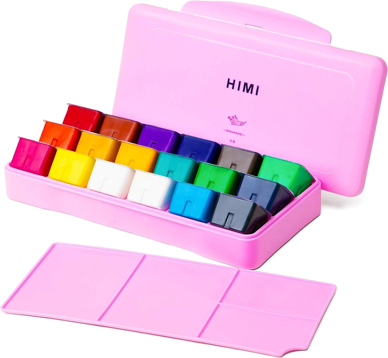 HIMI Gouache  set de 18 colores 30cm (caja rosa)