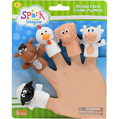 Animal Farm Finger Puppets: Toys & Games