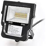 Anten® LED superiore qualità Faretti da esterno proiettori proiettore 20W impermeabile IP65 1700LM 2800-3200K bianco caldo SMD2535 [Classe energetica A +]