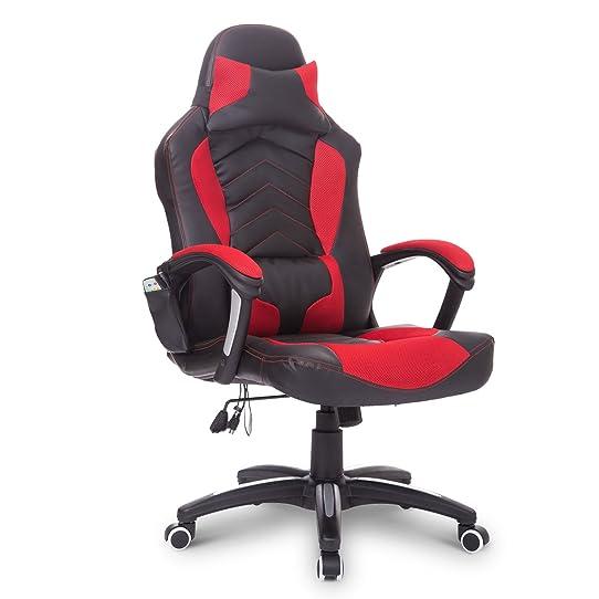 Chaise de bureau fauteuil de massage massante rchauffage