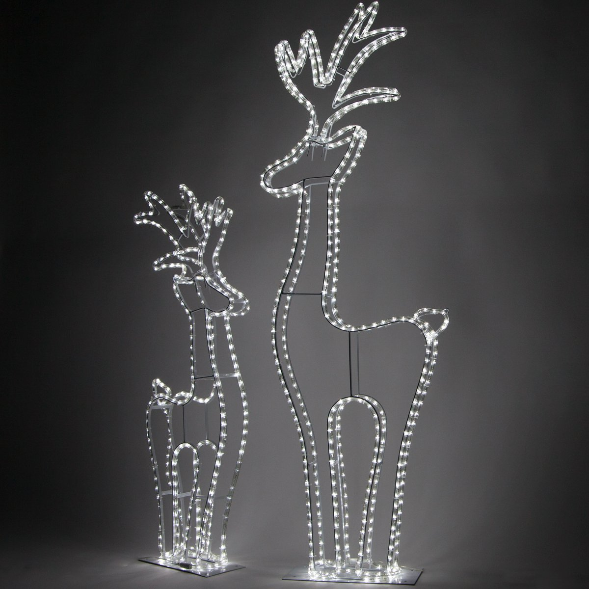 Wintergreen Lighting 3D Cool White LED Christmas Reindeer Yard Decorations (4 Ft Tall, 324 Lights)