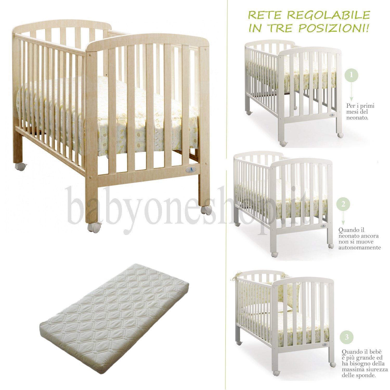 Kinderbett aus Holz culletta Weekend Azzurra Design + Matratze Bezug natur