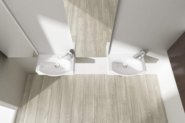 Durovin salles de bains Lavabo en c/éramique/-/Fixation Murale fin rectangulaire Hy3084/Hy3084l