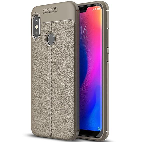 premium selection 5d67a 42e25 Xiaomi Mi A2 Lite Case, Xiaomi Mi A2 Lite Faux Leather Case, Soft Case  Anti-Slip TPU Cover for 5.84'' Xiaomi Mi A2 Lite