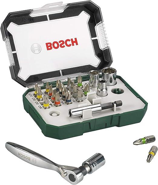 27 Pezzi Bosch Rainbow Pro Set  chiavi Avvitamento con Cricchetto