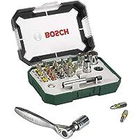 Bosch 26-Piece Screwdriver Bit and Ratchet Set with Colour Coding