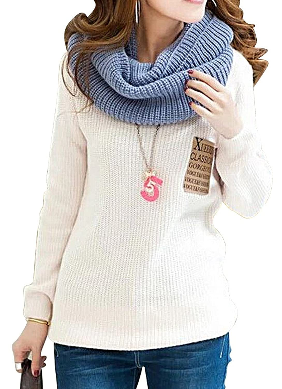 Women's Casual Knitted Sweater Warm Pullover S04