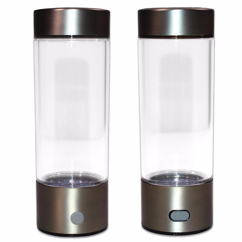 ポータブル水素透明水ボトルカップ再充電水素リッチ水Ionizerメーカージェネレータ450 ml容量バッテリーライト健康水清浄機フィルタTreatment B0763W6M83