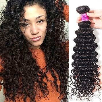 Amazon.com   RECOOL Hair Brazilian Deep Wave One Bundle for Sale 100  Percent Human Hair Extensions Bundles Deals Natural Color Weft (1 PC 18  inch)   Beauty ce4f4c86edcc