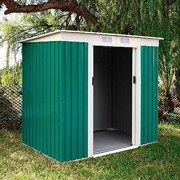 Catral CASETA Metalica Garden Room Green High Door, Verde: Amazon.es: Jardín