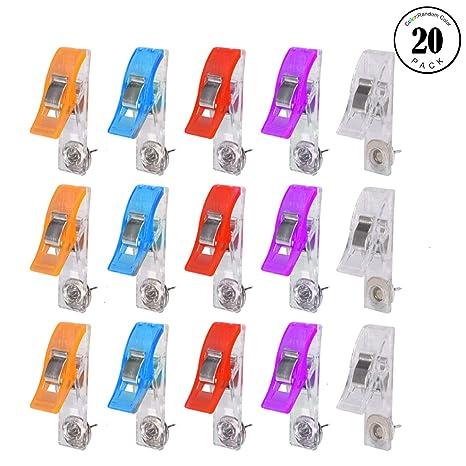 Amazon.com: Pinzas de empuje, 20 pinzas de color para la ...