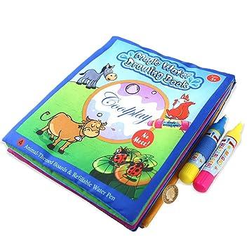 BBLIKE Magisches Wasser Zeichnungs Buch, Tier Malerei Gekritzel ...