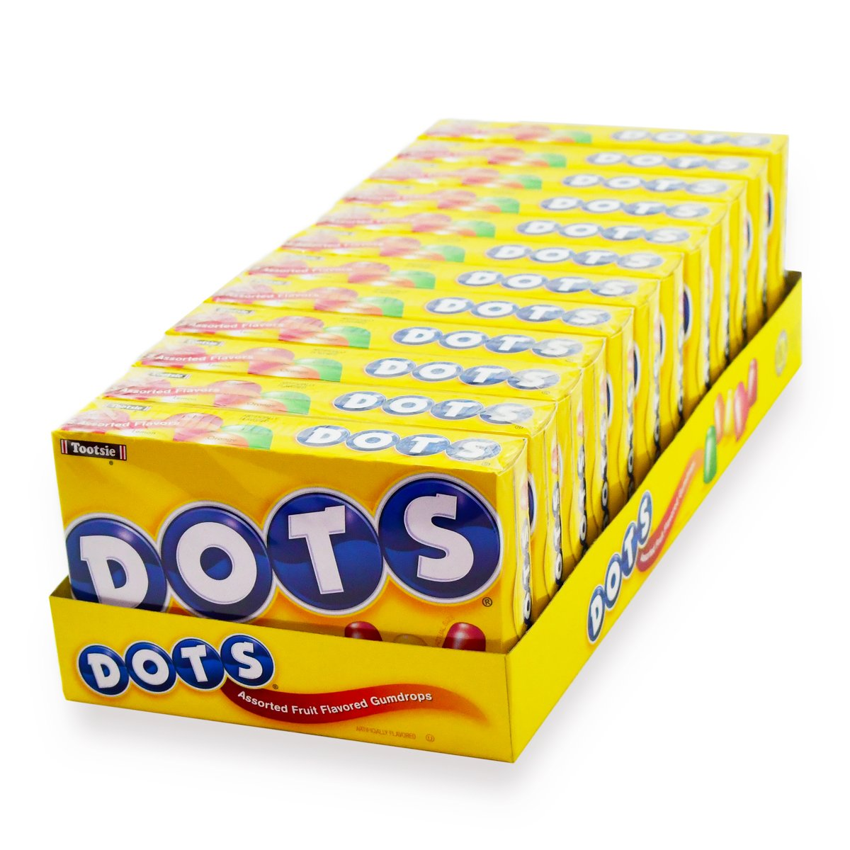 DOTS Assorted Fruit Candy, 6.5 Oz Box, Pack of 12 by Tootsie Roll