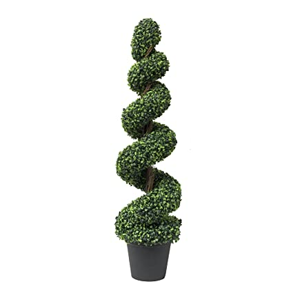 Christmas Topiary Decor.Artificial Topiary Spiral Boxwood Tree Fake Plant For Home Indoor And Outdoor Decor Christmas Wedding And Party Decor Green