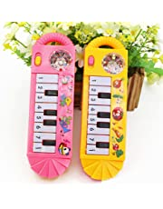 Gemini_mall Musical Toys for Infant Toddler, Baby Kids Piano Musical Instrument Toys Early Developmental Educational Toys for Boys Girls Xmas Birthday Gift Stocking Fillers Random Color