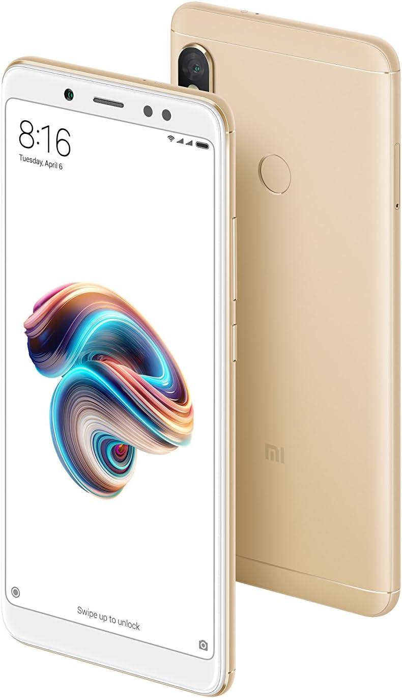 Xiaomi Redmi Note 5 Smartphone, Pantalla Completa de 5.99 (18: 9), Snapdragon 636 Octa Core de 4GB + 64GB, Cámara Dual, Oro