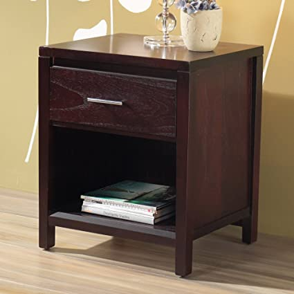 Modus Furniture NV2381P Nevis Charging Station Nightstand, Espresso