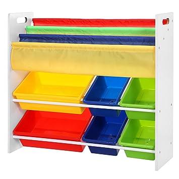 songmics meuble de rangement pour jouets et livres chambre denfant gkr03w