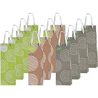 12 Piece Exclusive Wine Bags, 3 Organic Designs
