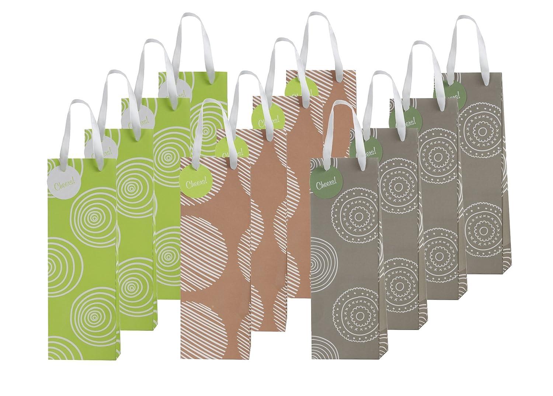 12 Piece Exclusive Wine Bags, 3 Organic Designs ClickBlock Corporation HPW003