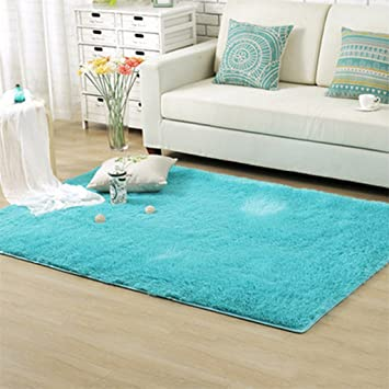 Baost Soft Indoor Living Room Floor Mat/cover Carpets Floor Rug Area Rug    Blue