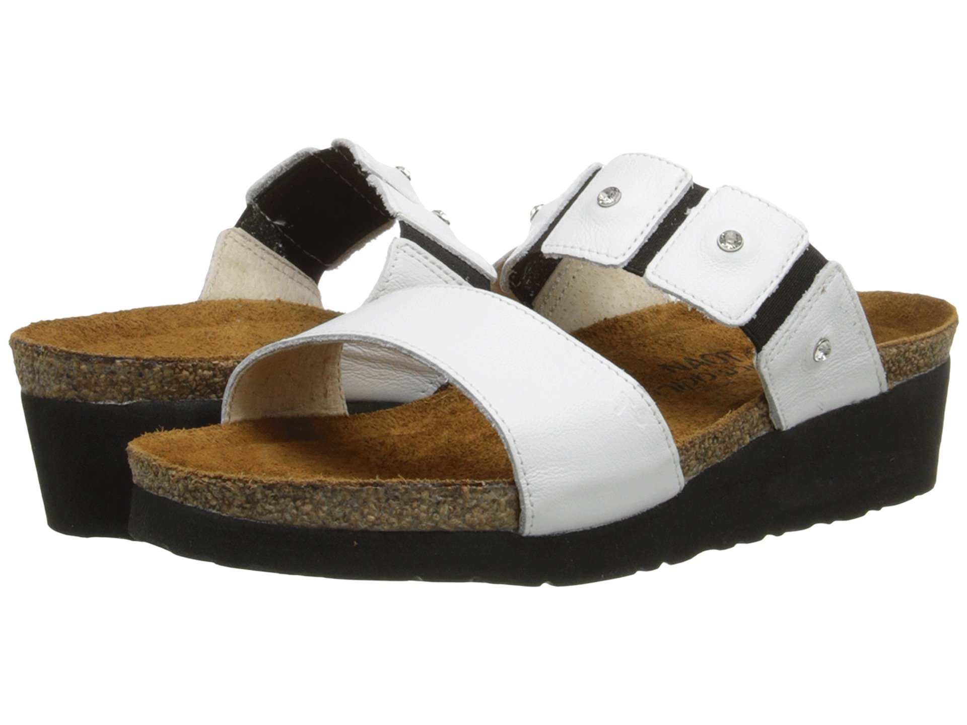 Naot Ashley Womens Comfort Sandals (9-9.5 B(M) US, White Leather)