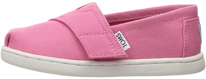 Amazon.com: TOMS Classic Bubblegum Pink Tiny Canvas Espadrilles Shoes: Shoes