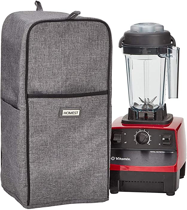 HOMEST Blender Dust Cover with Accessory Pocket Compatible with Vitamix Classic C-Series 5300, E310, Classic-G-Series, Smart System, Grey (Patent Pending)