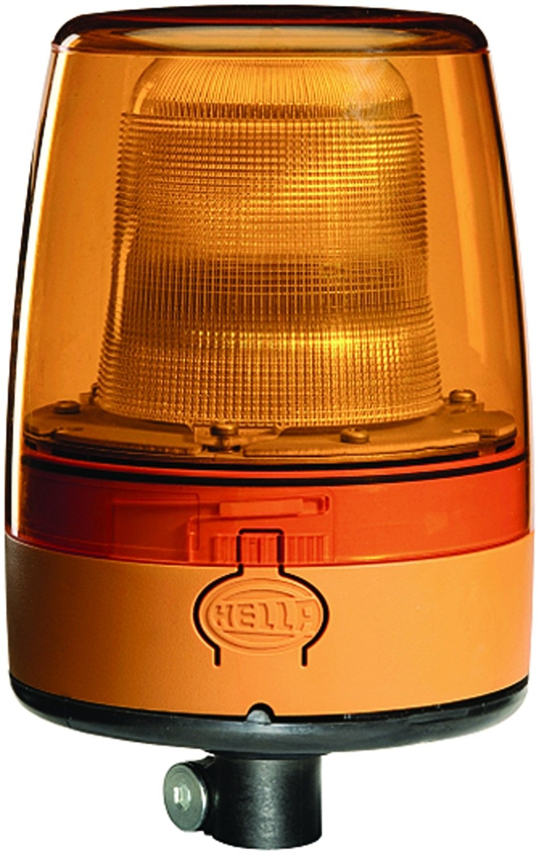 HELLA 009052011 KLX Junior Plus Pole Mount Beacon Warning Light, Rotating Pattern, 24V, Amber