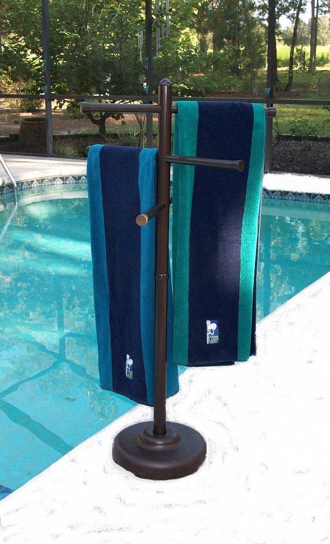 Gentil DETAILS. Poolside Towel Rack Hot Tub Holder Pool Accessories Storage ...