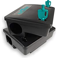 Kat Sense Rat Bait Station Traps, Reusable Humane Pest Box Against Mouses Chipmunks N Squirrels That Work, Smart Tamper…