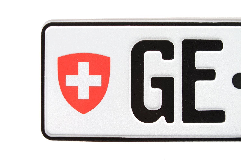 Switzerland European Licence Plate Package Plate Hardware European License Plates Frame