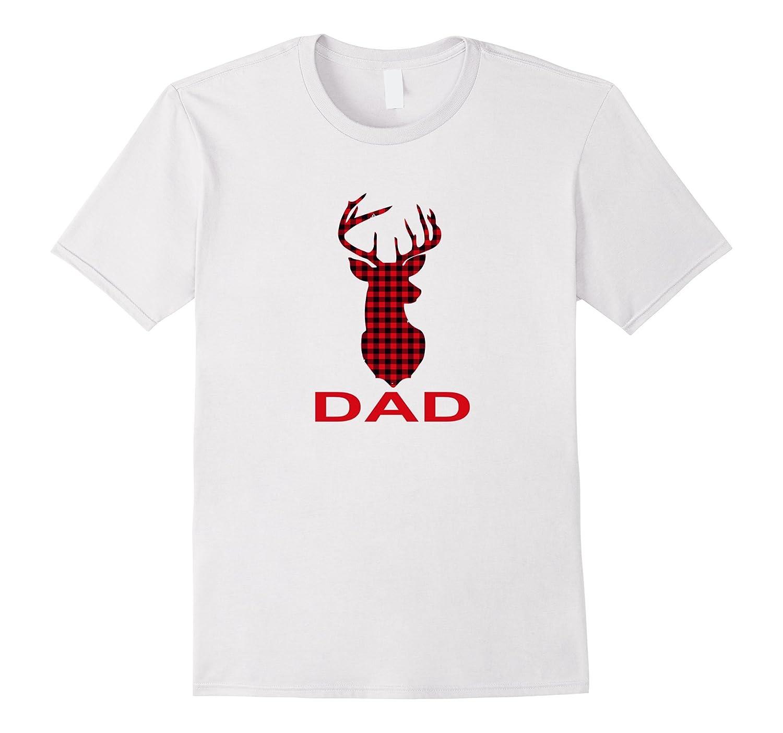 Dad Deer T-Shirt Cute Reindeer Gift Christmas Family-FL