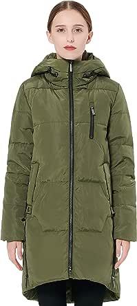 Orolay Women's Stylish Thickened Down Jacket Hooded Coat Winter Coat