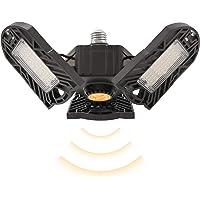 Motion Activated LED Garage Light E27 Ceiling Lights, Motion Sensor LED Workshop Light 6000LM Ultra Bright 360 Degrees…