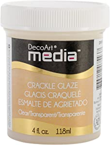 Deco Art Media Crackle Glaze, 4-Ounce, Clear