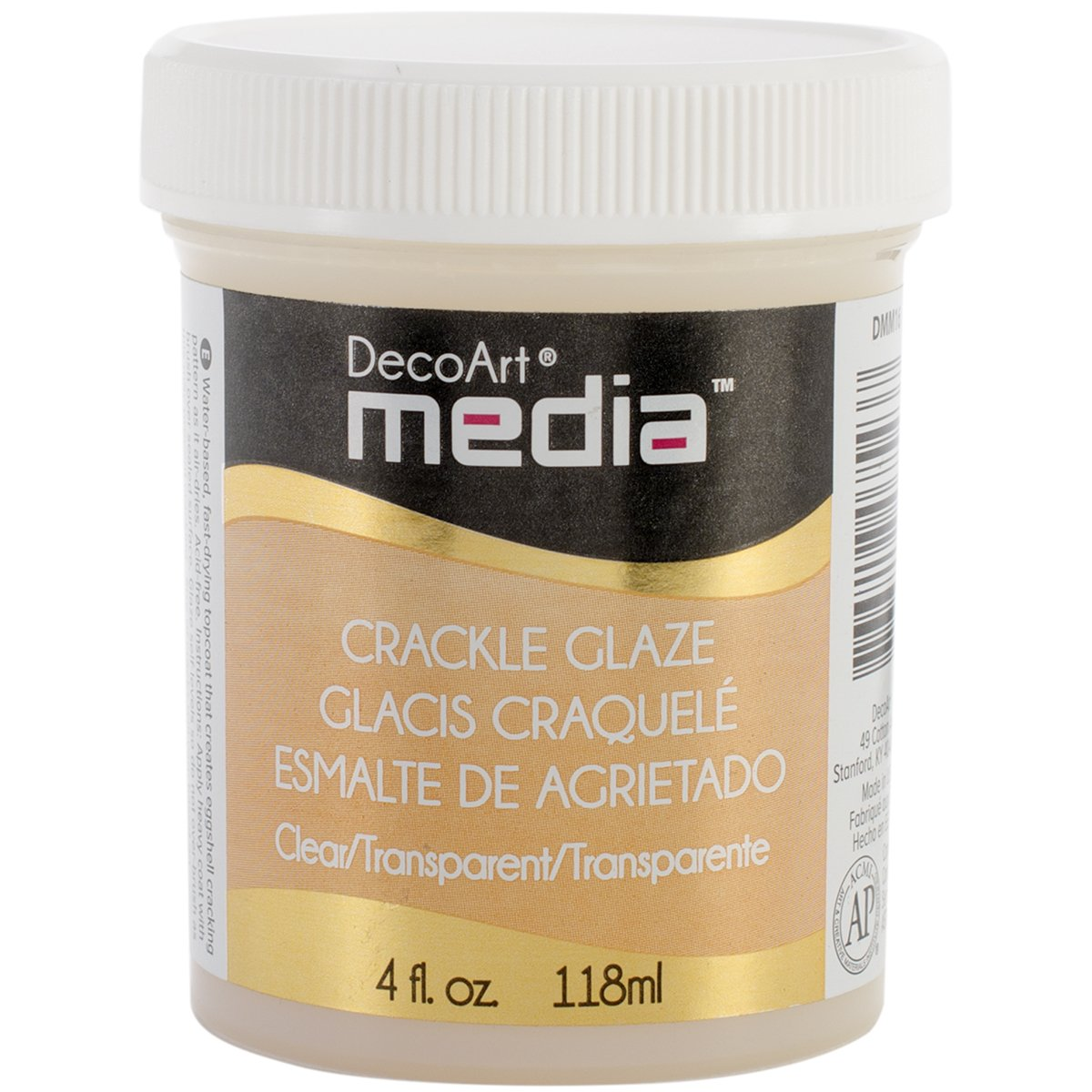 DecoArt Media Paint Finishes, Transparent Crackle Glaze DMM16