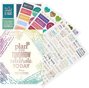 Erin Condren Designer Sticker Book Classic Sticker Book Edition 4 (492 Stickers). Decorative and Cute Stickers for Customizing Planners, Notebooks, and More