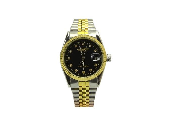 Yaki marca relojes de pulsera para hombre reloj suizos niqueladas elegante Elite y movimiento japonés de cuarzo relojes: Amazon.es: Relojes