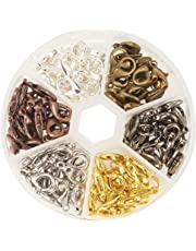 Pandahall 1 Box 120PCS 6 Color Zinc Alloy Lobster Claw Clasps Nickel Free (14x8mm)