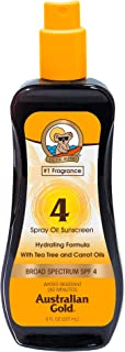 product image for Australian Gold Spray Oil Sunscreen SPF 4 , 8 Ounce | Carrot Oil Formula | Broad Spectrum | Water Resistant