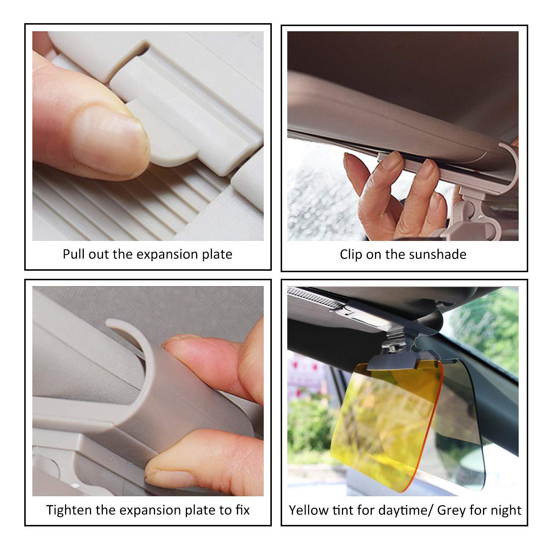 2 in 1 Car Sun Visor Anti-UV Block,Cars Sun Visor Covers HD Day /& Night Anti-Glare Visor Extension,180/° Adjustable Sun Visor for Car Windshield,Night Vision Anti-Dazzle Windshield New Upgrade 2019