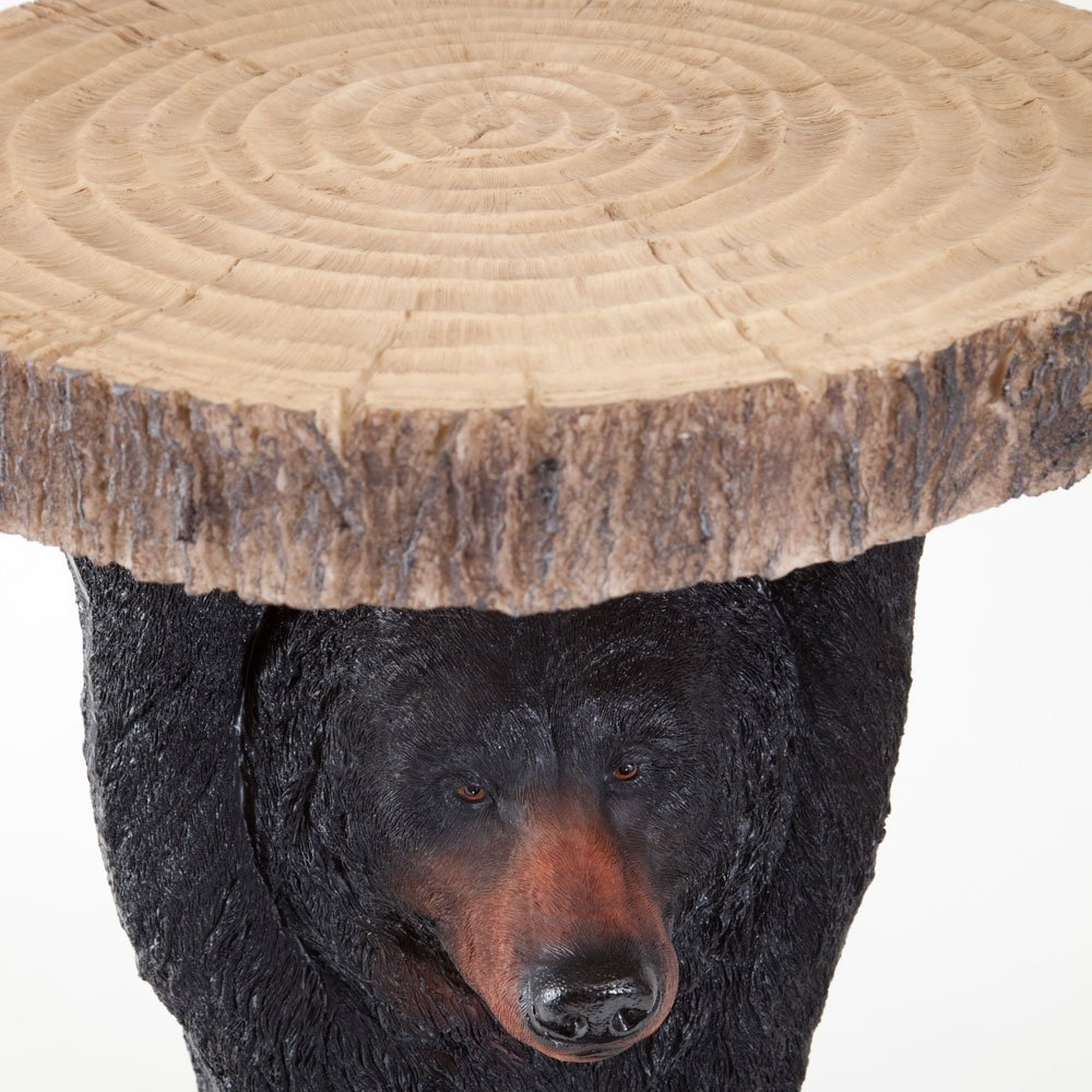 Perfect Amazon.com: Bits And Pieces Decorative Bear Patio Side Table  Accent Table  Realistic Black Bear End Table Great For The Cabin Decoration   Indoor Or  Outdoor ...