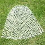 Kunsilane Fly Fishing Net Replacement For Fish Landing Net,Soft Rubber Mesh Net Large Size White Color