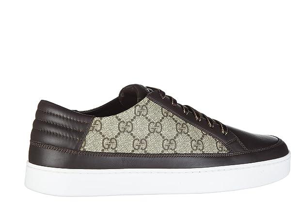 b8f1a666d3d Gucci Chaussures Baskets Sneakers Homme GG Supreme Beige EU 44 411858 A9LN0  2167  Amazon.fr  Chaussures et Sacs